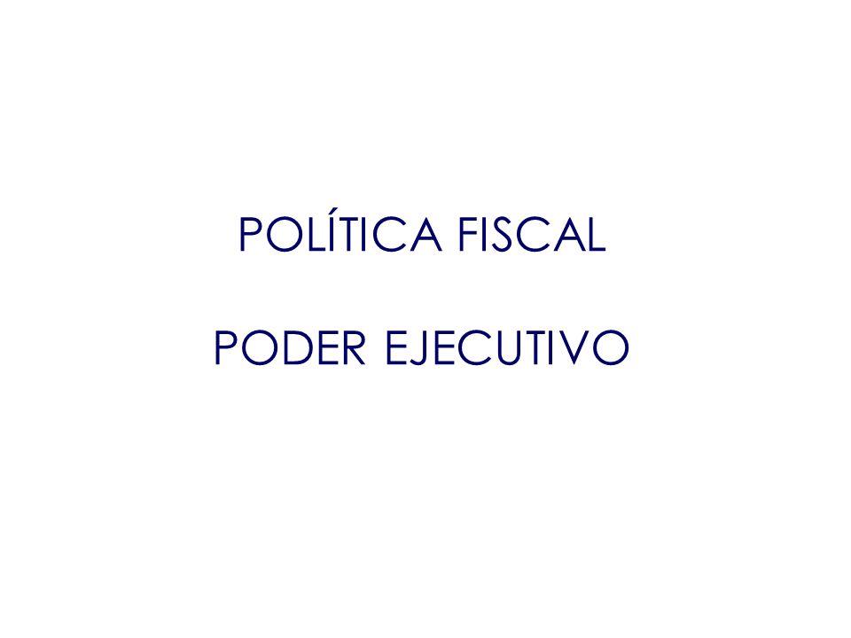 POLÍTICA FISCAL PODER EJECUTIVO POLÍTICA FISCAL PODER EJECUTIVO