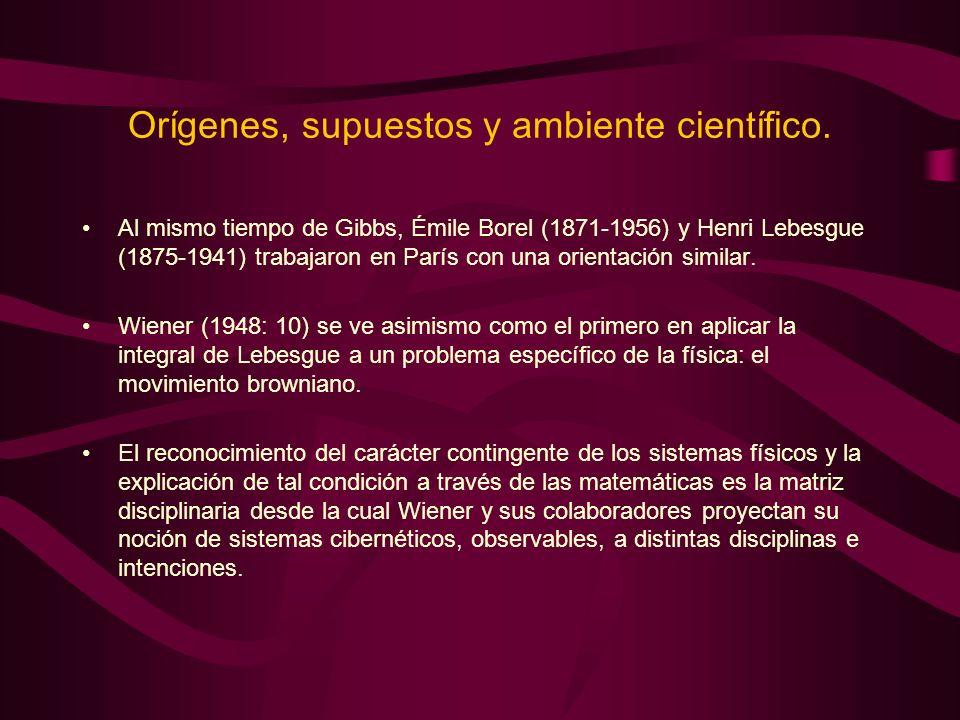 Orígenes, supuestos y ambiente científico. Al mismo tiempo de Gibbs, Émile Borel (1871-1956) y Henri Lebesgue (1875-1941) trabajaron en París con una