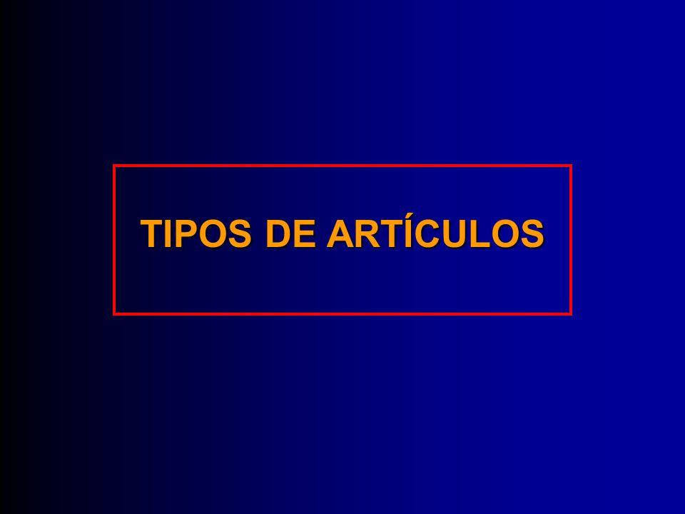 TIPOS DE ARTÍCULOS