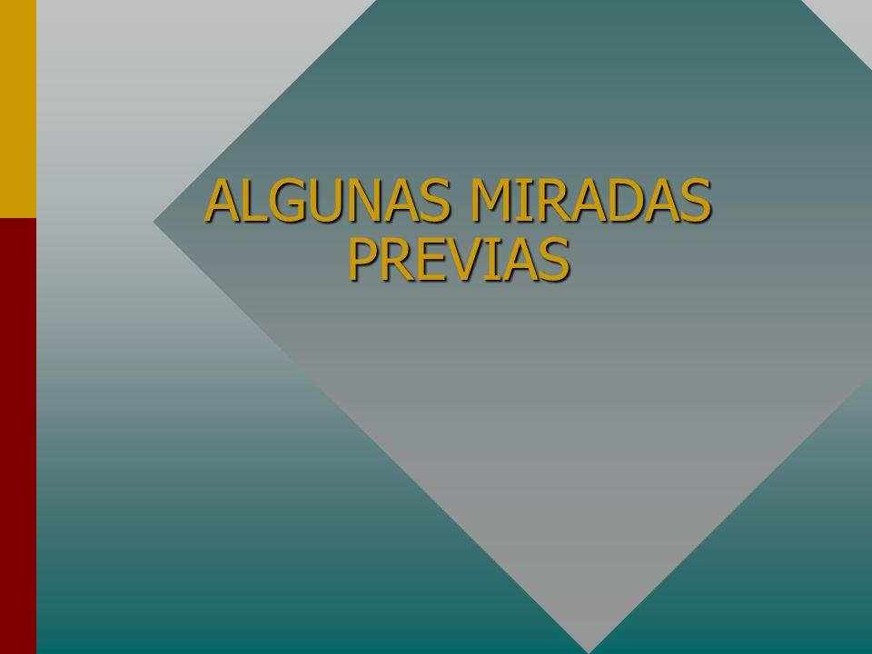 ALGUNAS MIRADAS PREVIAS