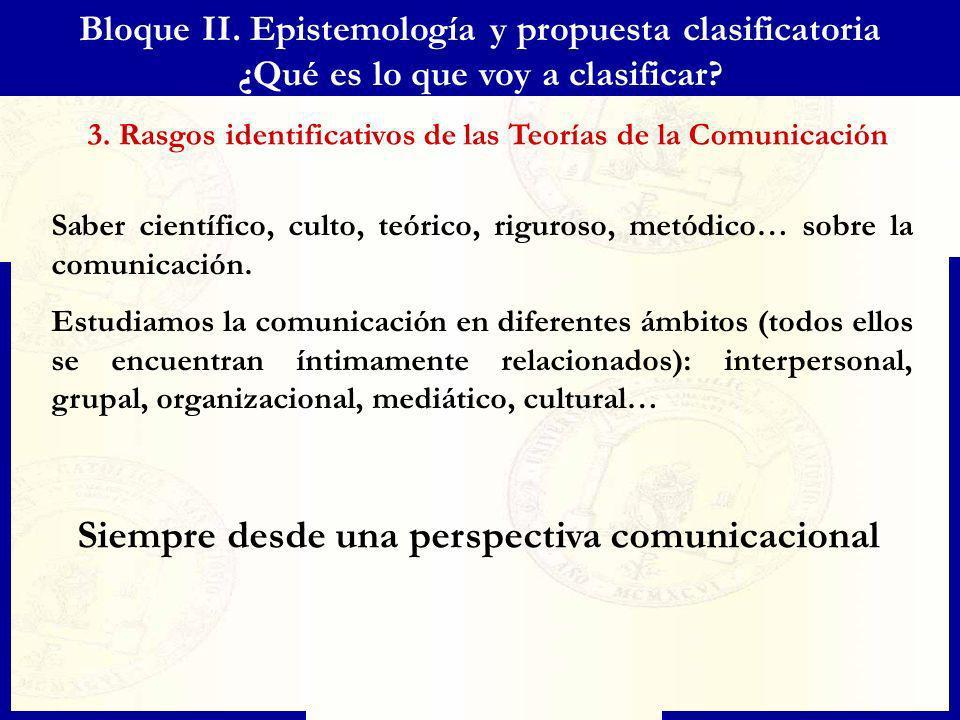 Bloque II. Epistemología y propuesta clasificatoria ¿Qué es lo que voy a clasificar? Saber científico, culto, teórico, riguroso, metódico… sobre la co