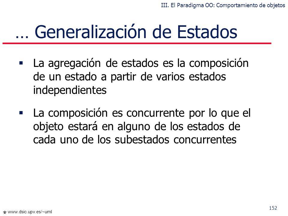 151 www.dsic.upv.es/~uml Es preferible tener estados iniciales de entrada a un nivel de manera que desde los niveles superiores no se sepa a qué subes