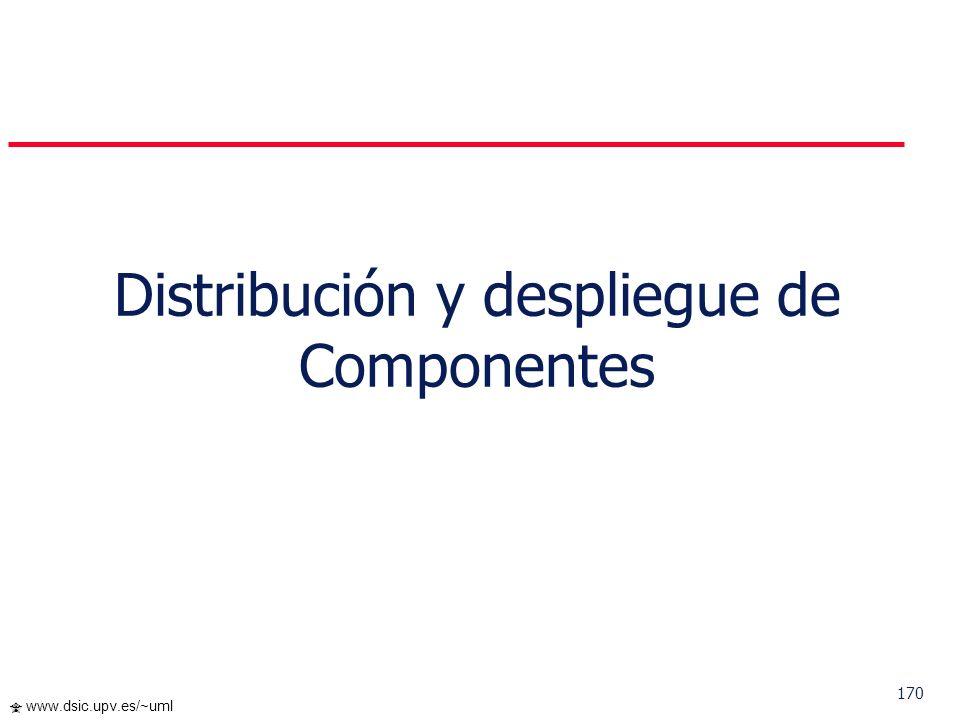 169 www.dsic.upv.es/~uml...Diagrama de Componentes III. El Paradigma OO: Componentes