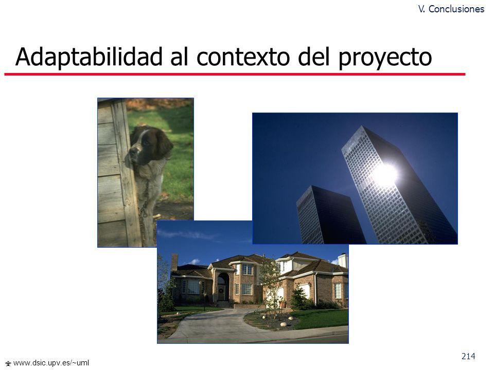213 www.dsic.upv.es/~uml Modelado de SI: Algunas Reflexiones ¿Cuál es el propósito de nuestros modelos? Documentar (a posteriori) Comunicar ideas y es