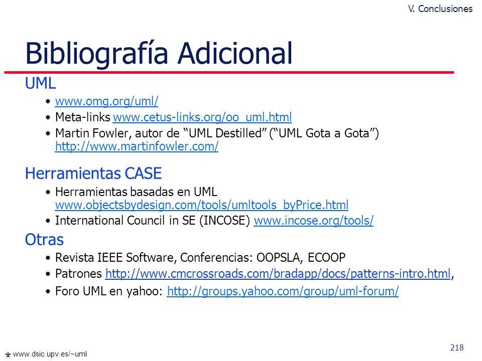 217 www.dsic.upv.es/~uml Diagramas en UML 2.0