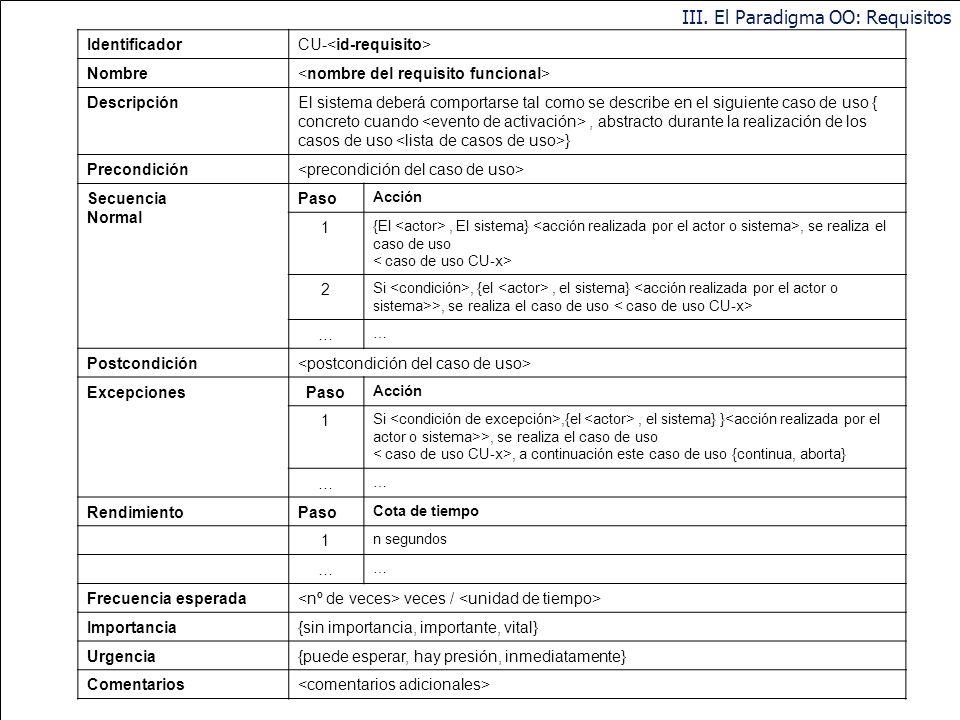 84 www.dsic.upv.es/~uml … Casos de Uso: Construcción La descripción del Caso de Uso comprende: el inicio: cuándo y qué actor lo produce? el fin: cuánd