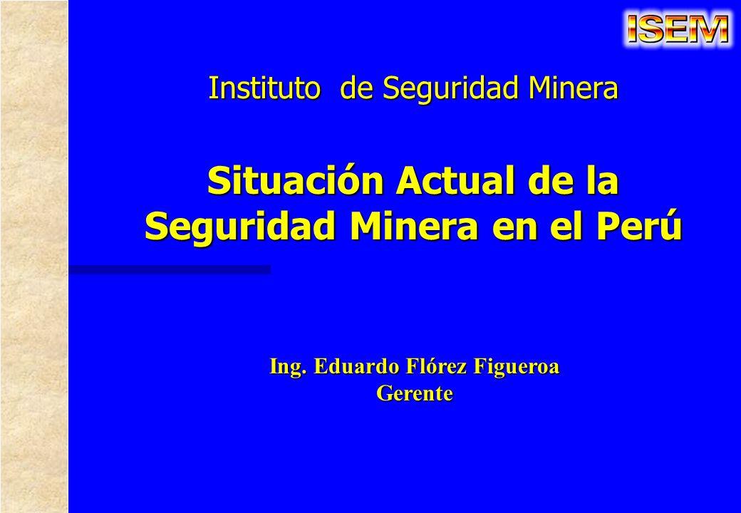 Instituto de Seguridad Minera Ing. Eduardo Flórez Figueroa Gerente Situación Actual de la Seguridad Minera en el Perú