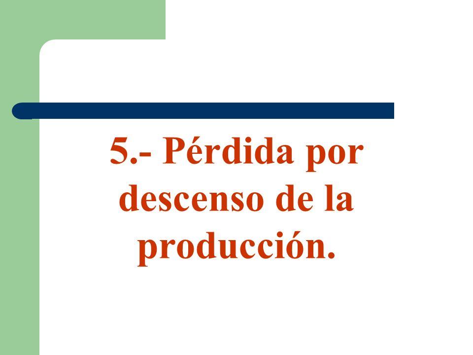 5.- Pérdida por descenso de la producción.