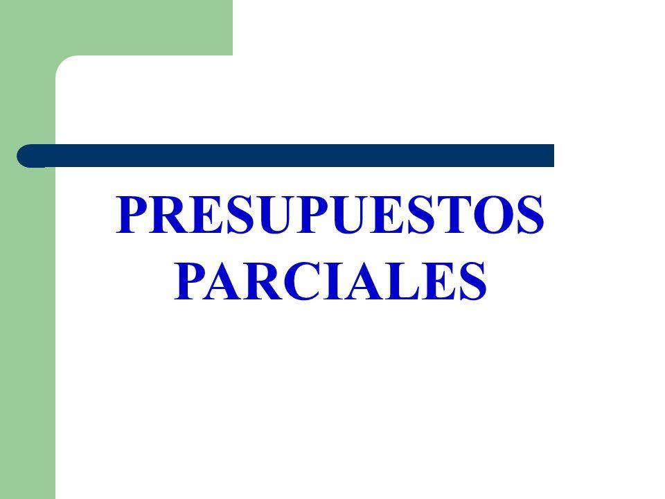 PRESUPUESTOS PARCIALES