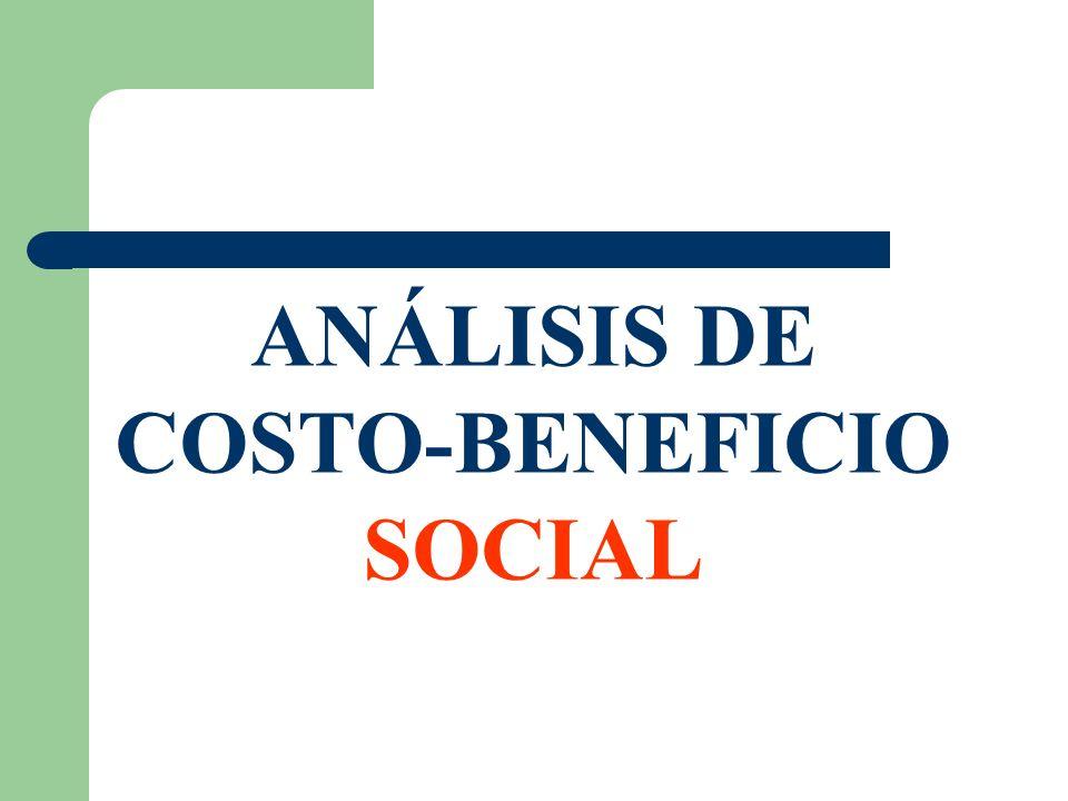 ANÁLISIS DE COSTO-BENEFICIO SOCIAL