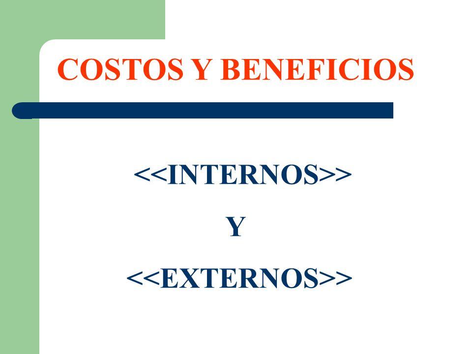 COSTOS Y BENEFICIOS > Y >