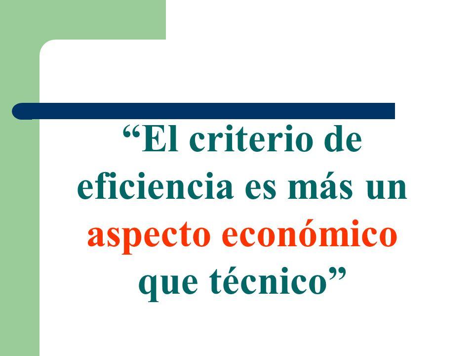 El optimo económico global (beneficios máximos) varía en relación a los precios relativos tanto de los factores de producción como de los productos, así como con los cambios que afectan a las técnicas de producción.