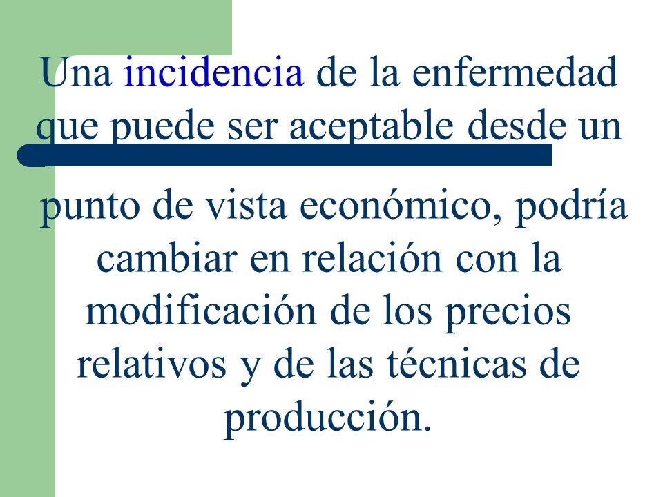 Análisis económico de la sanidad animal Perdidas ocasionadas por los diversos problemas sanitarios y especialmente a las aplicaciones de los análisis costo-beneficio (C-B)
