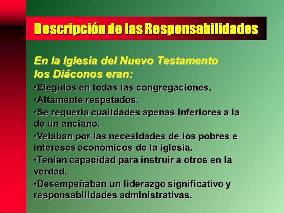Descripción de las Responsabilidades Liderazgo Espiritual Respetados por sus Congregaciones.