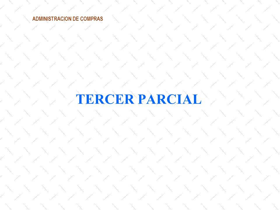 ADMINISTRACION DE COMPRAS TERCER PARCIAL