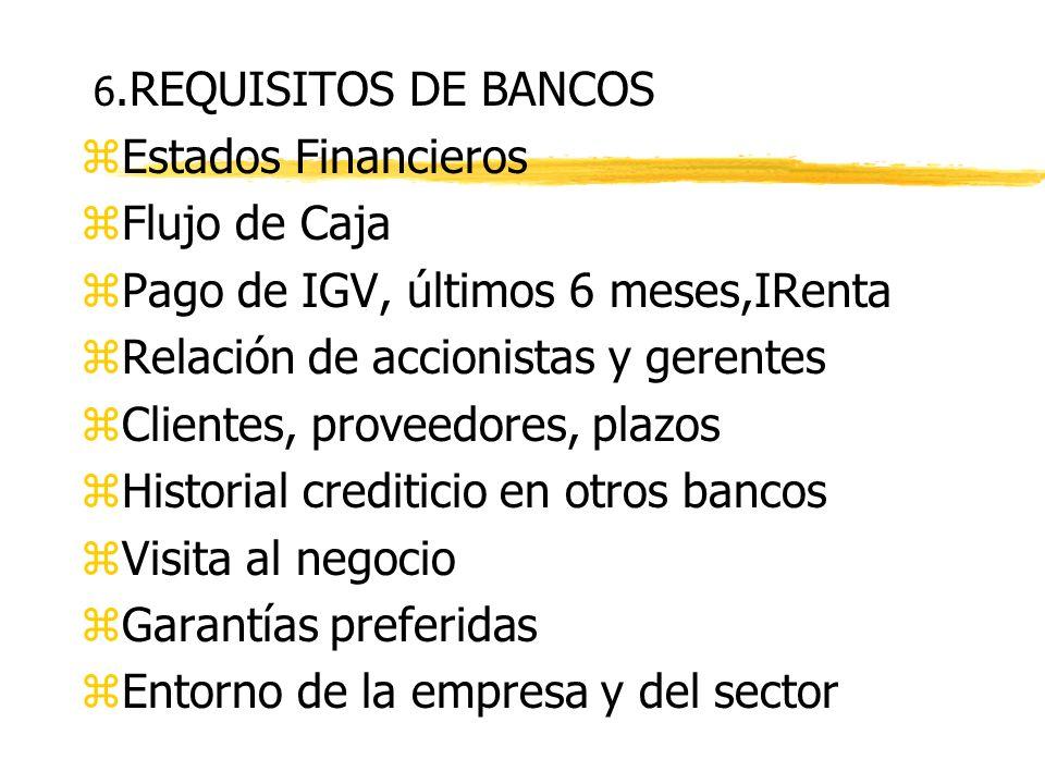 5. COMO EL BANCO EVALUA A LA EMPRESA zAspectos cualitativos yEntorno económico, riesgo de la industria yCalidad de dirección de la empresa y contabili