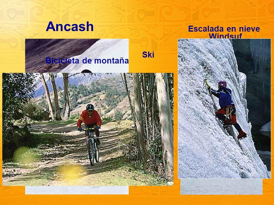 13 Ancash Ski Windsuf Escalada en nieve Bicicleta de montaña