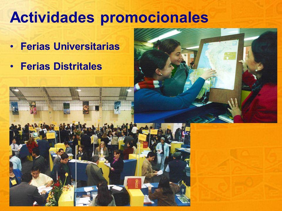 4 Actividades promocionales Ferias Universitarias Ferias Distritales