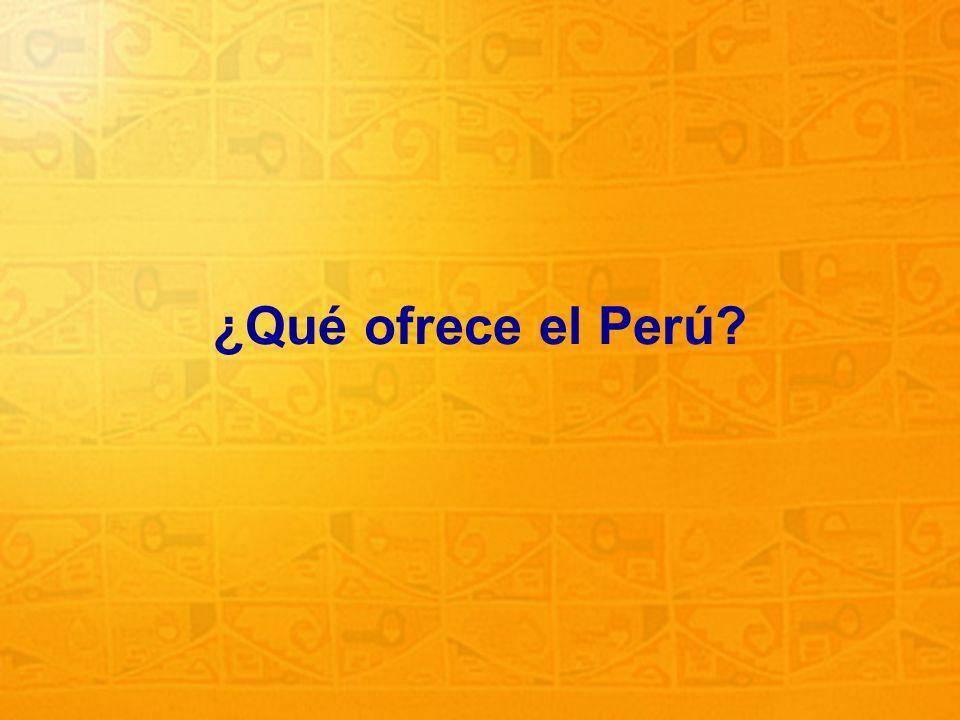 5 ¿Qué ofrece el Perú?