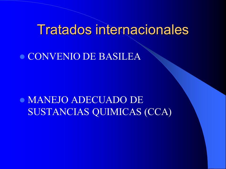 Tratados internacionales CONVENIO DE BASILEA MANEJO ADECUADO DE SUSTANCIAS QUIMICAS (CCA)
