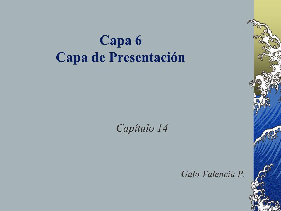 Capa 6 Capa de Presentación Capítulo 14 Galo Valencia P.