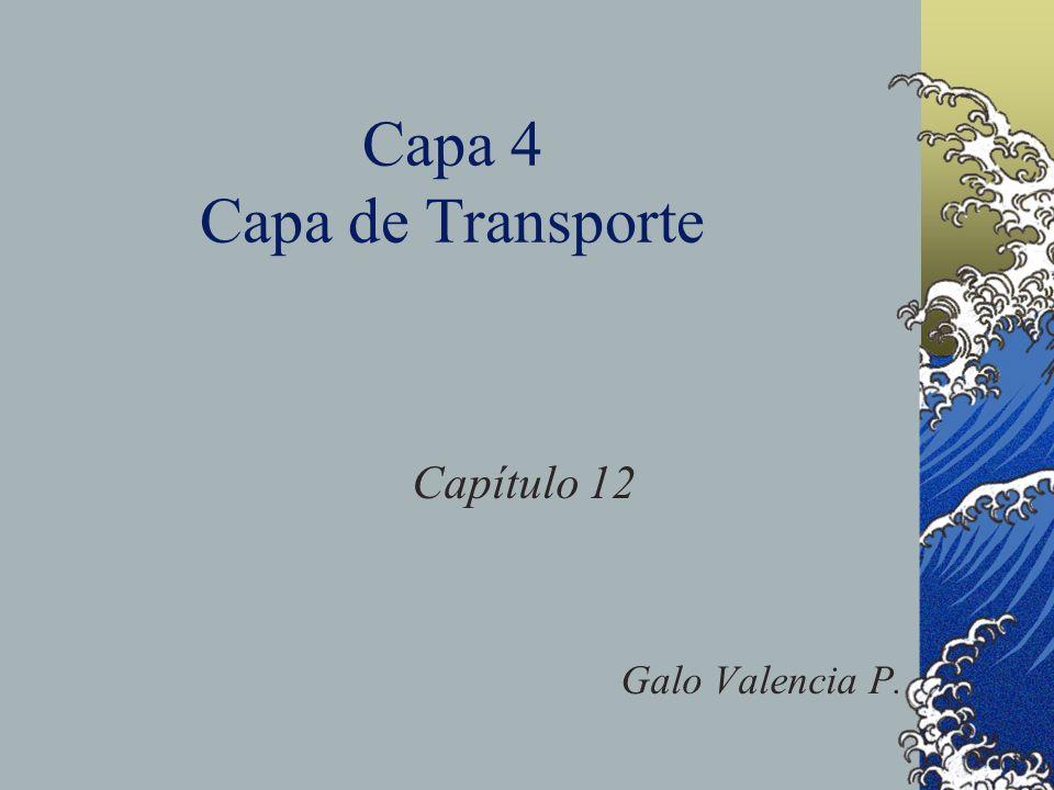 Capa 4 Capa de Transporte Capítulo 12 Galo Valencia P.