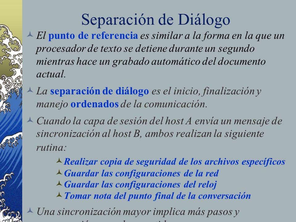 Separación de Diálogo El punto de referencia es similar a la forma en la que un procesador de texto se detiene durante un segundo mientras hace un gra