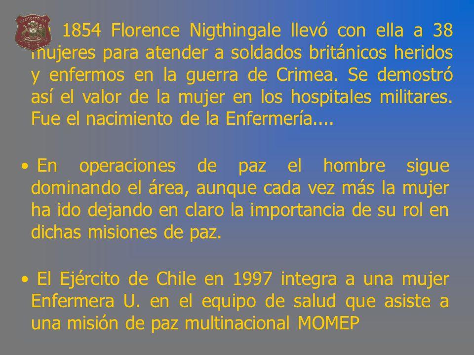 PERFIL DE LA ENFERMERA - Excelencia Profesional.- Instrucción Militar.