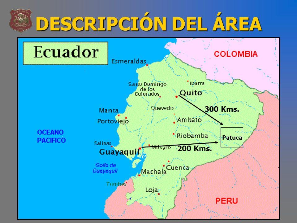 DESCRIPCIÓN DEL ÁREA 300 Kms. 200 Kms. Patuca