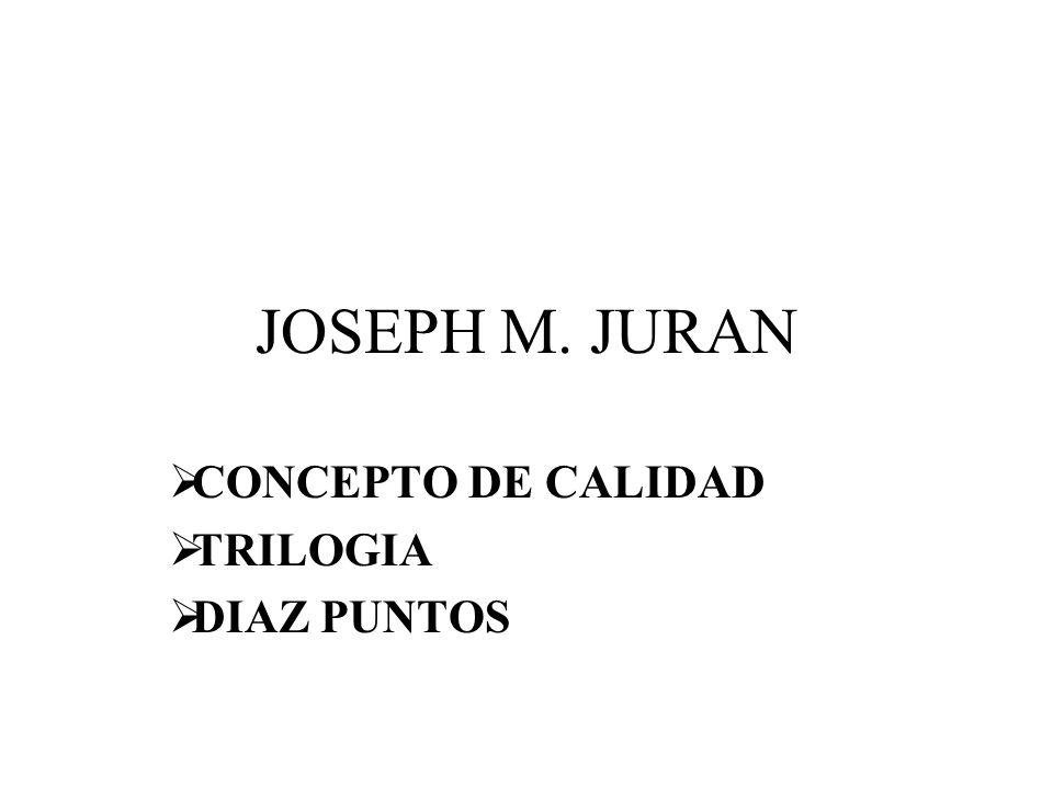 JOSEPH M. JURAN CONCEPTO DE CALIDAD TRILOGIA DIAZ PUNTOS