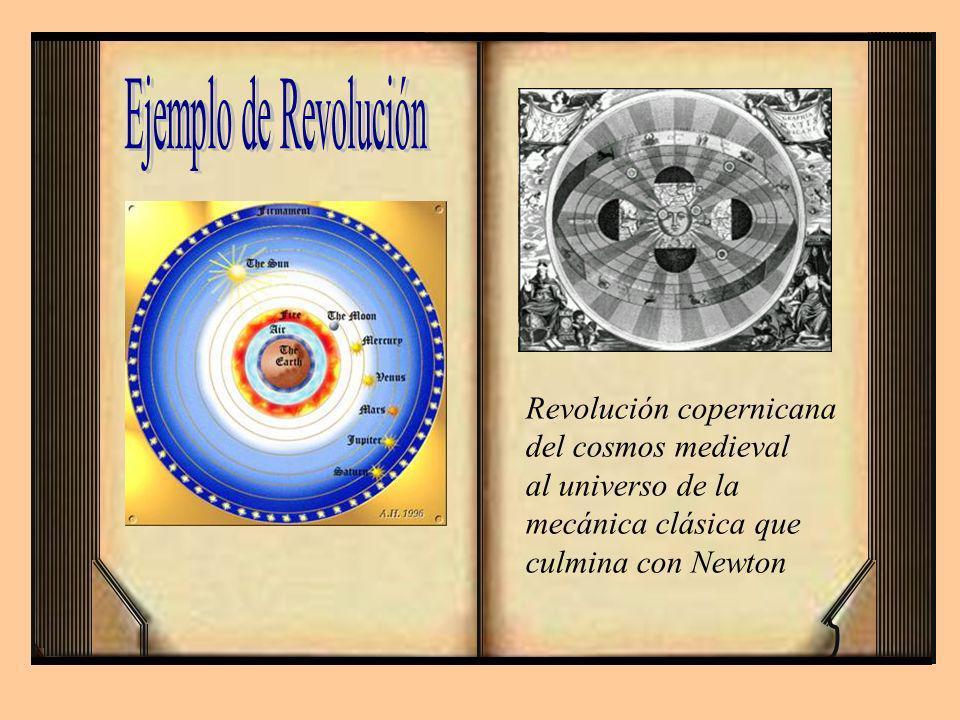 Revolución copernicana del cosmos medieval al universo de la mecánica clásica que culmina con Newton
