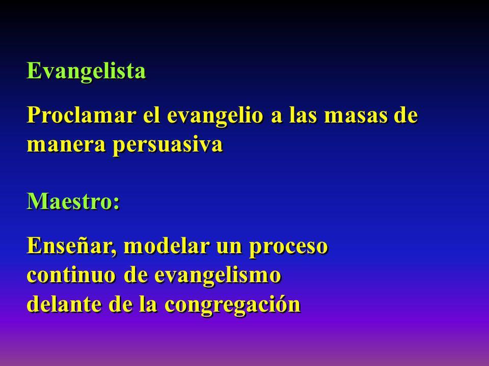 Evangelista Proclamar el evangelio a las masas de manera persuasiva Evangelista Proclamar el evangelio a las masas de manera persuasiva Maestro: Enseñ