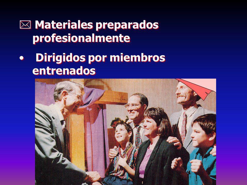 Materiales preparados profesionalmente Dirigidos por miembros entrenados Materiales preparados profesionalmente Dirigidos por miembros entrenados