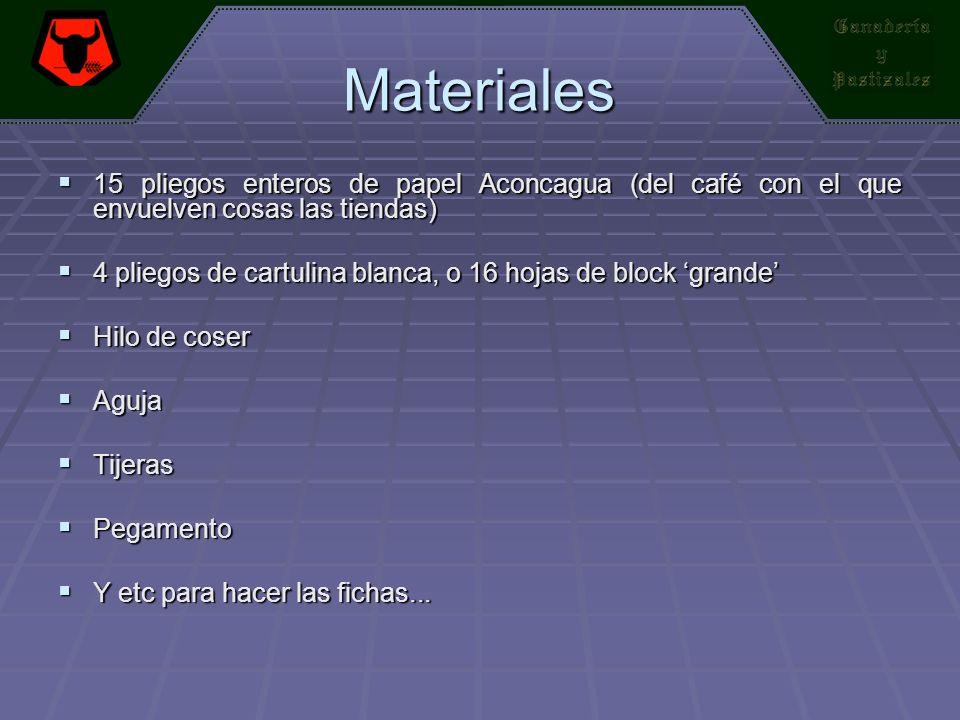 Materiales 15 pliegos enteros de papel Aconcagua (del café con el que envuelven cosas las tiendas) 15 pliegos enteros de papel Aconcagua (del café con