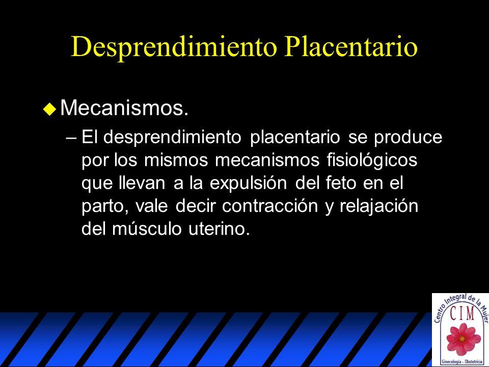 Desprendimiento Placentario u Mecanismos.