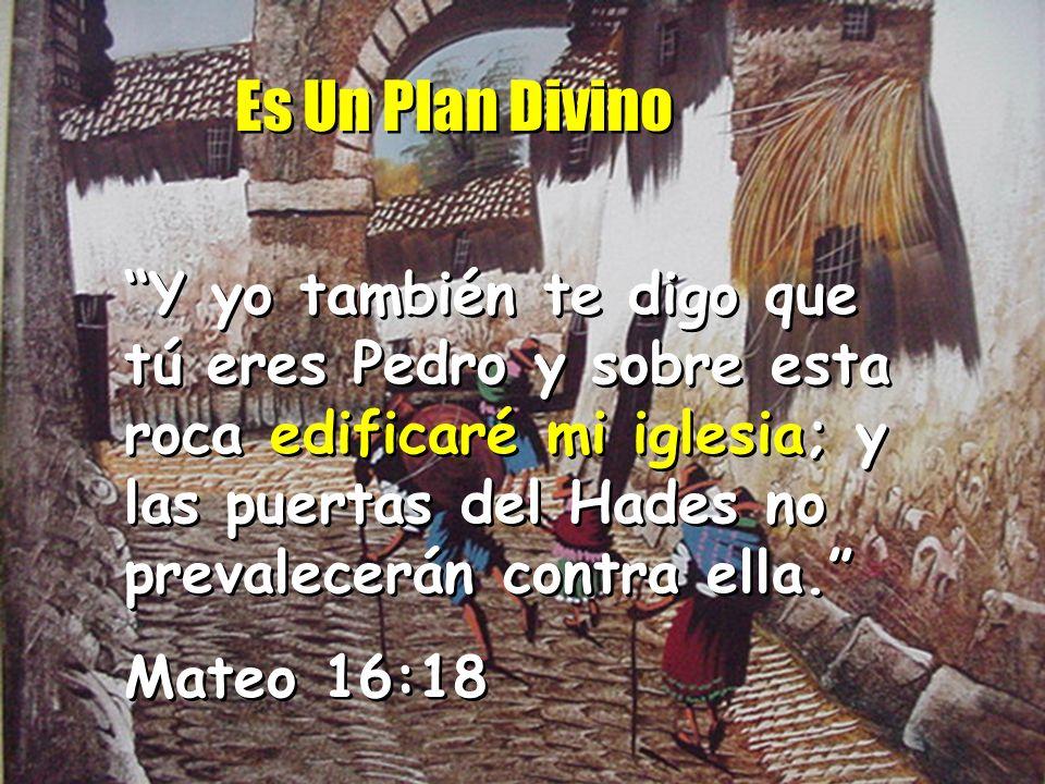 Es Un Plan Divino Y yo también te digo que tú eres Pedro y sobre esta roca edificaré mi iglesia; y las puertas del Hades no prevalecerán contra ella.