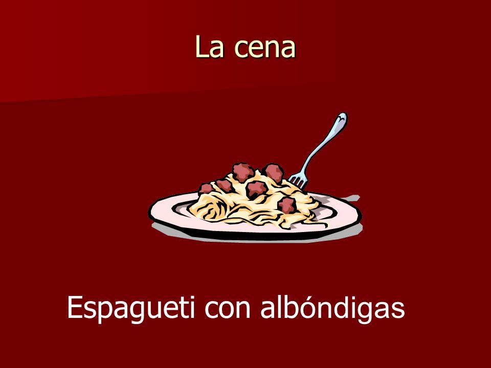 La cena Espagueti con alb óndigas