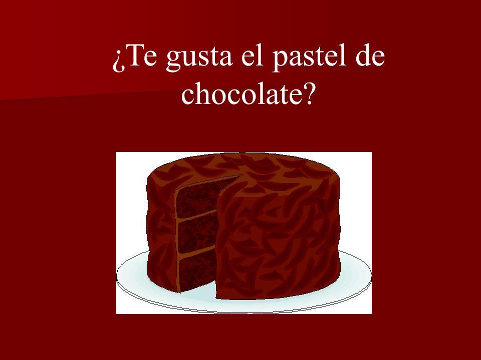 ¿Te gusta el pastel de chocolate?