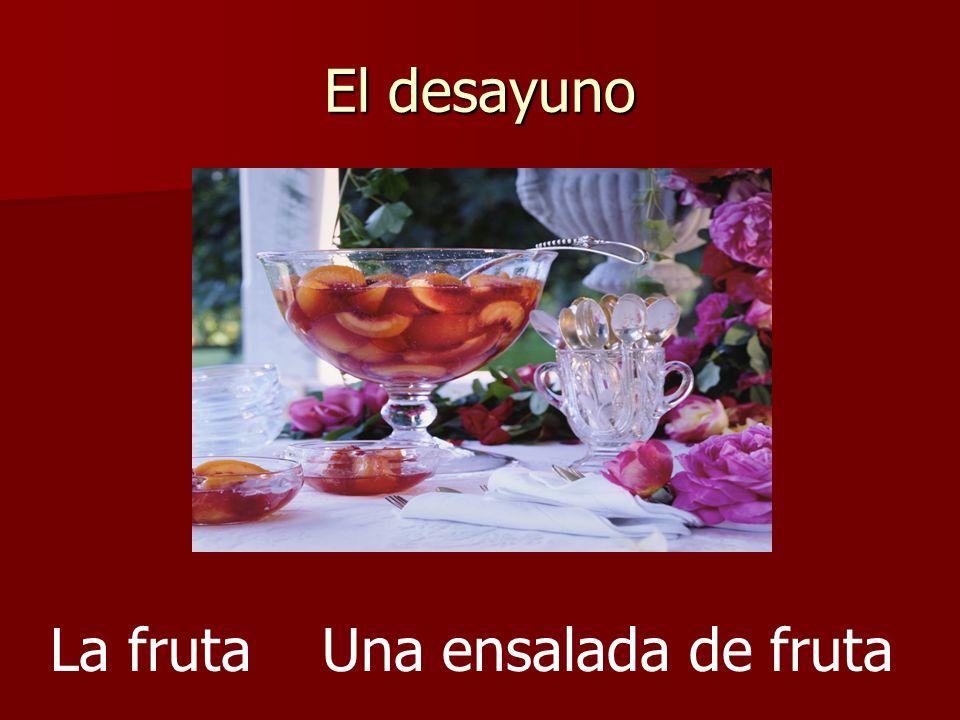 El desayuno La frutaUna ensalada de fruta