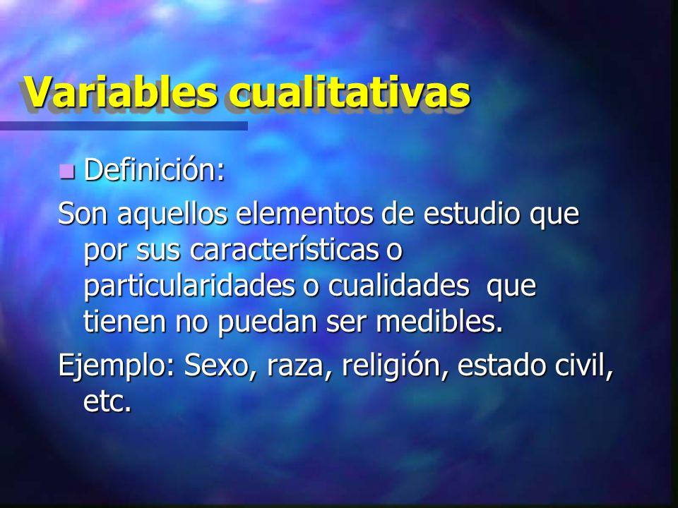 Variable cualitativa ordinales.