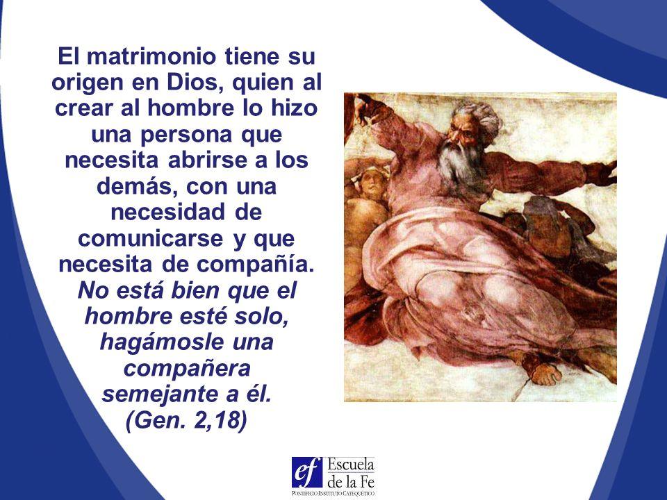 La familia tiene su origen y modelo en la Santísima Trinidad Modelo teológico del matrimonio