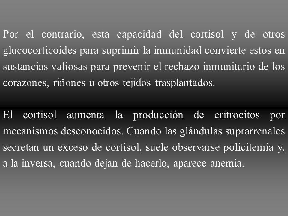 De forma análoga, la administración de grandes dosis de cortisol induce una atrofia importante de todos los tejidos linfáticos del organismo, lo que a
