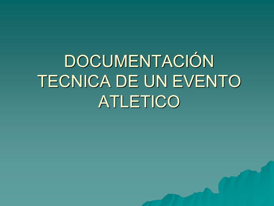 Documentos de control Relaciones de competidores: Permiten una cuantificación exacta de todos los participantes, es fácilmente cotejable con las cedulas de inscripción; facilitan la localización de cualquier competidor y su ubicación en cuanto a hospedaje o sitios de competencia.