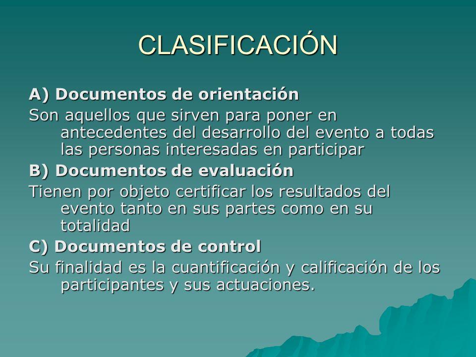 Documentos de control Encabezado Encabezado Cuerpo, que debe integrarse con: Cuerpo, que debe integrarse con:-Cuantificación-Representación-Identificación -Numeración (uniforme o participación) -Participación (pruebas individuales) -Localización (hospedaje) Pie Pie