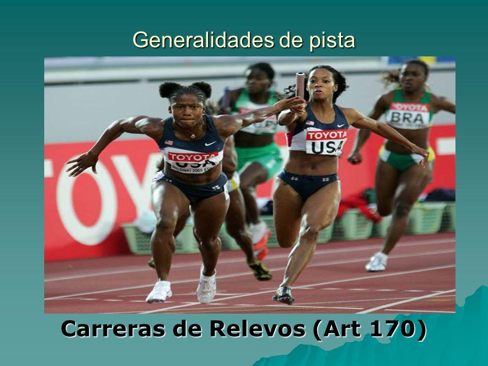 Generalidades de pista Carreras de Relevos (Art 170)
