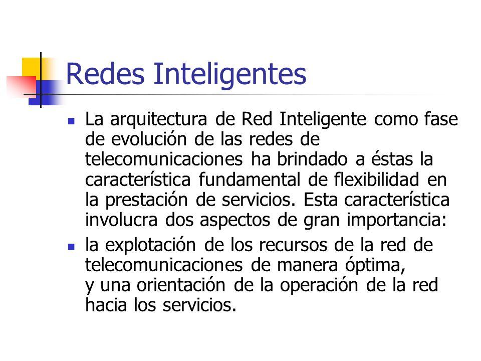 Redes Inteligentes La arquitectura de Red Inteligente como fase de evolución de las redes de telecomunicaciones ha brindado a éstas la característica