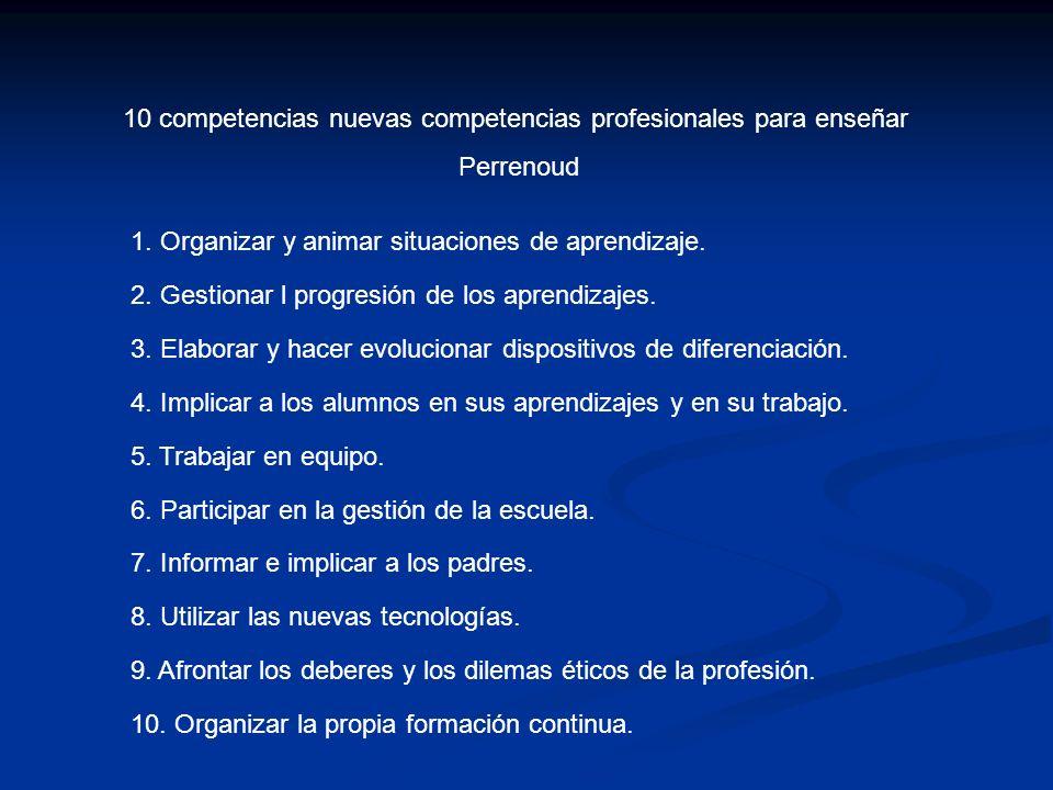COMPETENCIAS DE REFERENCIA COMPETENCIAS MÁS ESPECÍFICAS PARA TRABAJAR EN FORMACIÓN CONTINUA (EJEMPLOS) 1.-Organizar y animar situaciones de aprendizaje Conocer, a través de una disciplina determinada, los contenidos que hay que enseñar y su traducción en objetivos de aprendizaje.