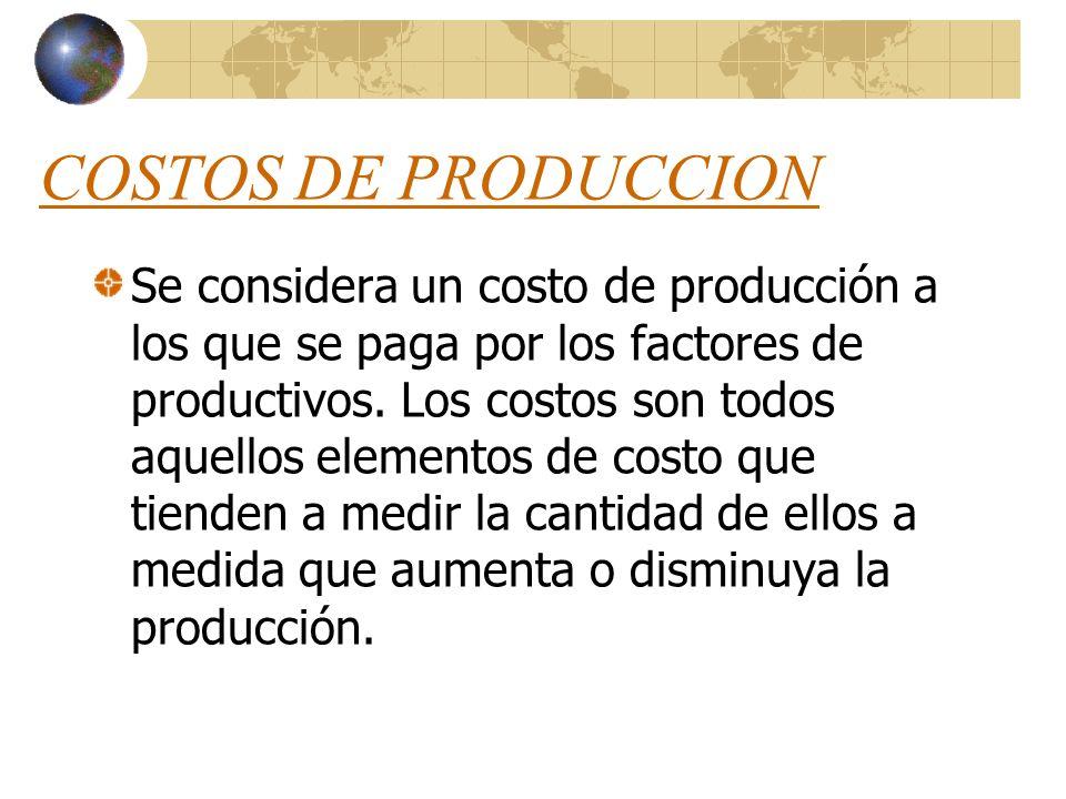 DETERMINANTES DE LA OFERTA COSTOS DE PRODUCCIÓN NIVEL TECNOLOGICO EXPECTATIVAS