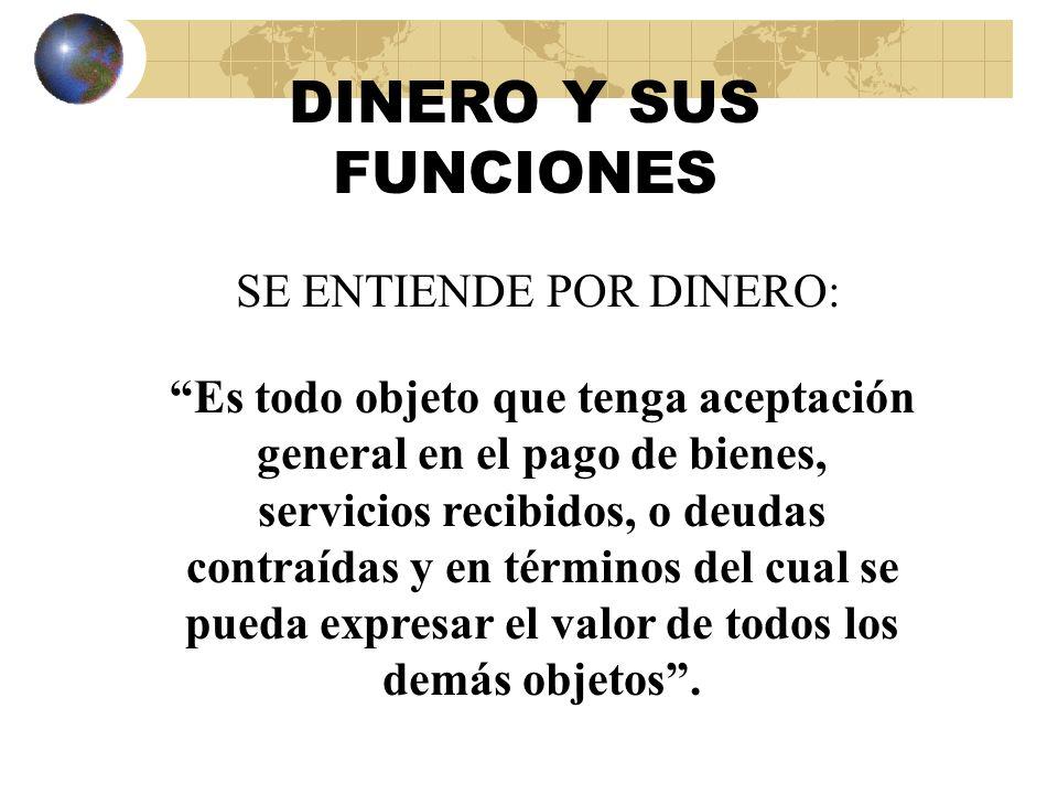 DINERO - BANCA DINERO - BANCA DEFINICION DE CONCEPTOS
