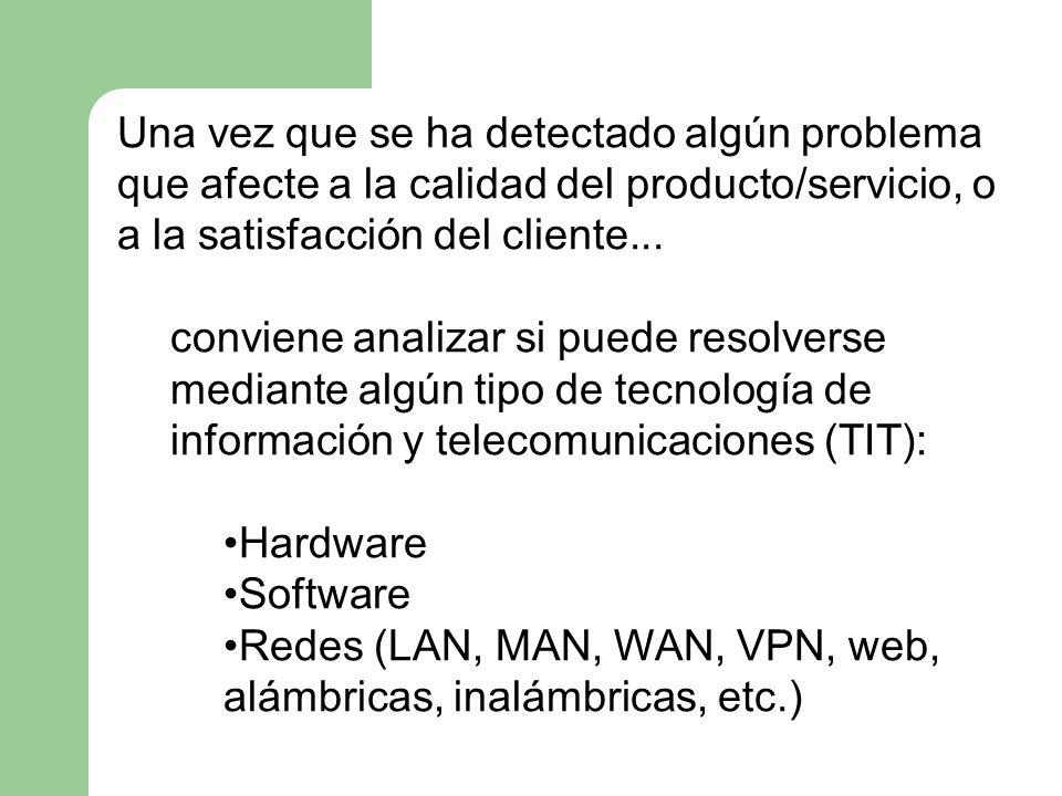 Una vez que se ha detectado algún problema que afecte a la calidad del producto/servicio, o a la satisfacción del cliente... conviene analizar si pued